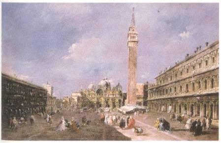 Francesco Guardi, Piazza San Marco con la basilica e il campanile, Edimburgo, National Gallery of Scotland
